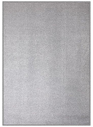havatex Velours Teppich Trend - schadstoffgeprüft und pflegeleicht | schmutzabweisend robust strapazierfähig | Wohnzimmer Schlafzimmer, Farbe:Grau, Größe:200 x 250 cm