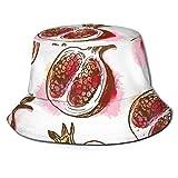 Sombrero Pescador,Gorra De Sol,Gorro De Pescador para Mujer,Granada Roja Hombres/Mujeres Sombreros De Pescador Sombrero Boonie Sombrero De ala Ancha