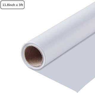 TONGXU 1Rollo Vinilo de Transferencia de Calor de PVC 11.8 pulgadas x 3 pies para DIY Bricolaje Diseño Imprimir Patrones de Camisetas Sombreros Mochilas Ropa (Blanco)