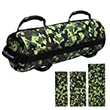 E ETERMTT Sandbags for Fitness, Heavy Duty Workout Sandbags with 10 to 60 Lbs Adjustable Filler Bags for Exercise and Military Conditioning (Sand Not Included).