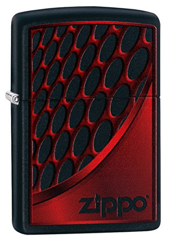Zippo RED and Chrome-Black Matte-Art-Nr.: 60003392 Sturmfeuerzeug, Silber, 5.8 x 3.8 x 1.8 cm