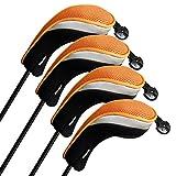 Andux coprimazza da Golf per ibridi Intercambiabile No. Etichetta 4pcs/Set Nero/Arancio MT/hy07