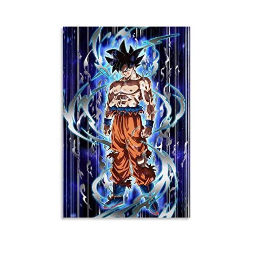 LIULANG Póster de Dragon Ball Super De Goku Ultra Instinto sobre lienzo con impresión artística moderna para habitación familiar, 30 x 45 cm