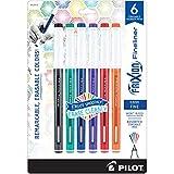 PILOT FriXion Fineliner Erasable Marker Pens, Fine Point, Assorted Classic Color Inks, 6-P...