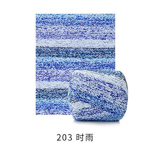 Alta calidad 4 bolas * 50g algodón orgánico saludable arco iris color elegante hilo de encaje de punto DIY artesanía crochet hilo de tejer-203