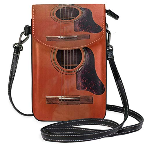 XCNGG Acoustic Guitar Cell Phone Purse Wallet for Women Girl Small Crossbody Purse Bags
