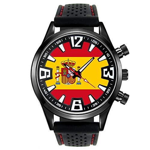 Timest - Bandera de España - Reloj para Hombre con Correa d