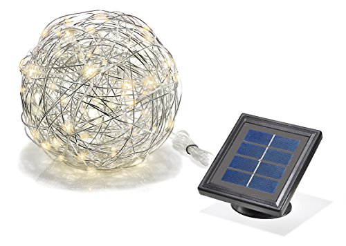 sotec Solarleuchte Wireball, 50 LED, stabiles Aluminium, Lichtfarbe warmweiß 102115
