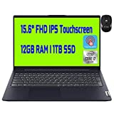 Flagship Lenovo Ideapad 5 15 Business Laptop Intel Quad-Core i7-1065G7 15.6' FHD IPS Touchscreen Display 12GB DDR4 1TB SSD Backlit KB Dolby USB-C Finger Print Win 10 + iCarp Wireless Mouse