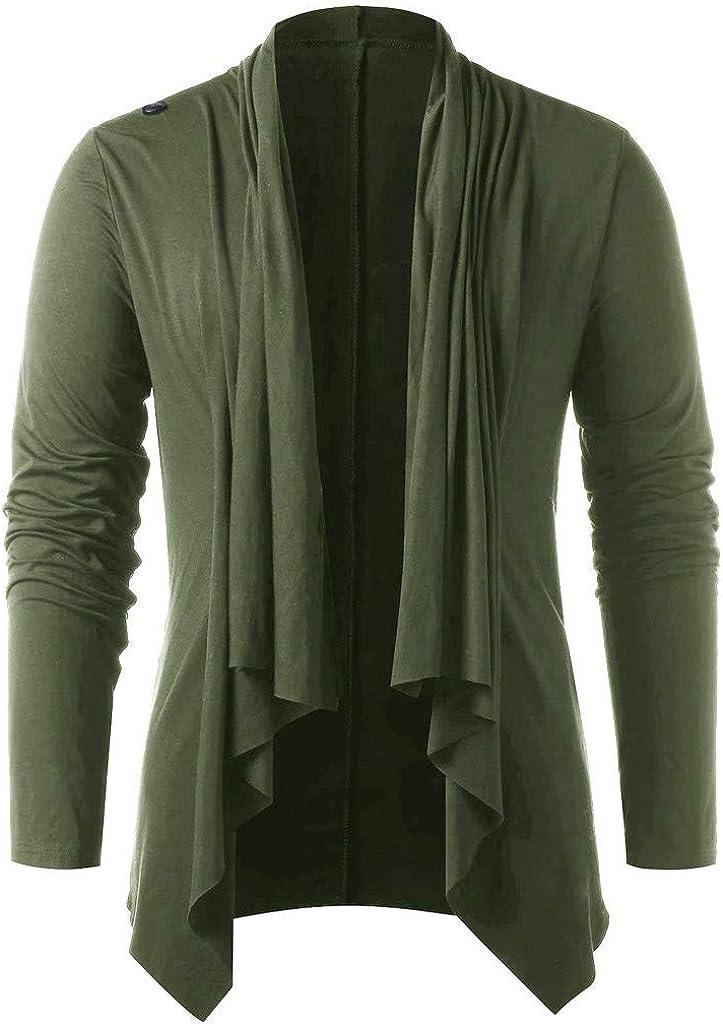 MODOQO Men's Cardigan Jacket Casual Long Sleeve Outwear Coat