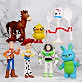 Story Toys – Set of 7 Action Figures with Woody, Buzz...