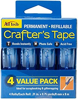 Ad-Tech Permanent Crafter's Tape, 0.31 by 315-Inch, 4 Per Package by Ad-Tech