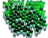 Rhinestone Paradise 500 g más de 90 canicas verdes verdes de cristal, bolas decorativas de 16 mm