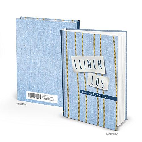 Seemeilenbuch LEINEN LOS DIN A5 100 Seiten blanko Buch - Eintragen der Seemeilen als Nachweis - Meilenbuch für Segler - Geschenk zum Segelschein Logbuch der Meilen Segelsport