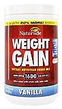 Naturade Weight Gain Instant Nutrition Drink Mix, Vanilla, 16.9 Oz
