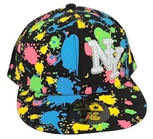 Temps Est Argent NY Splash HipHop Casquette Bouchons, plat, drap-housse Peaks Baseball Chapeaux Unisexe - Multicolore - Taille unique