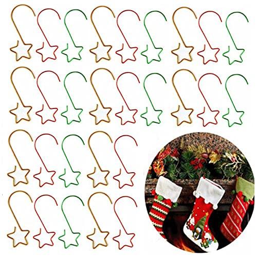 60 Piezas Ganchos para Bolas de Navidad Ganchos de árbol de Navidad Gancho de Árbol de Adorno Pequeño Ganchos para Colgar Luces para Navidad Árbol de Navidad Decoración para Fiestas en Casa