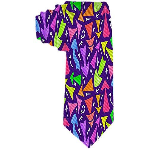 Corbata tejida clásica de negocios para hombres Corbatas multicolores dibujadas a mano de neón