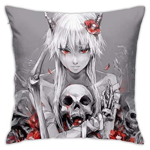 Lucky Home Anime Gasai Yuno - Fundas de cojín decorativas de algodón para salón, sofá, cama, funda de almohada suave, 45 x 45 cm