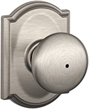 Schlage F40 PLY 619 CAM Camelot Collection Plymouth Privacy Knob, Satin Nickel