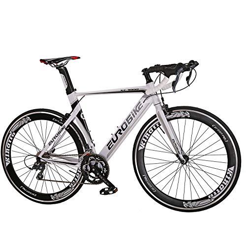Eurobike Aluminium Road Bike 16 Speed Mens Bicycle 700C Wheels 54cm Frame Racing Commuter