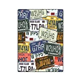 Mesllings Couverture légère et Douce pour lit ou canapé Motif plaques d'immatriculation Anciennes américaines 147 x 203 cm