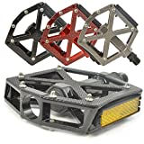 Lumintrail PD-603B MTB BMX Road Mountain Bike Bicycle Platform Pedals Flat Alloy 9/16' inch