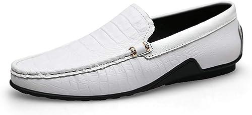 Xujw-chaussures, Chaussures Bateau Homme Slip-on Penny Mocassins pour Hommes en Cuir Véritable Léger Confortable Robe De Mode en Relief De Mariage Chaussures Décontractées Anti-Slip Plat Bout Rond