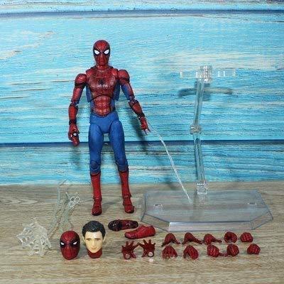 Figuras de acción juguetes Spider-man/Iron Man/Thanos/Black Panthe - Legends Endgame 6.5 pulgadas extremidades móviles LED - Colección de juguetes para decoración del coche (color: 4)