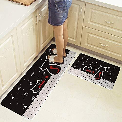 HLXX Alfombra de Cocina de Dibujos Animados geométricos Alfombra de baño Alfombra de Piso Alfombra de Puerta de Entrada para el hogar Alfombra Alfombra de Piso A15 40x60cm + 40x120cm