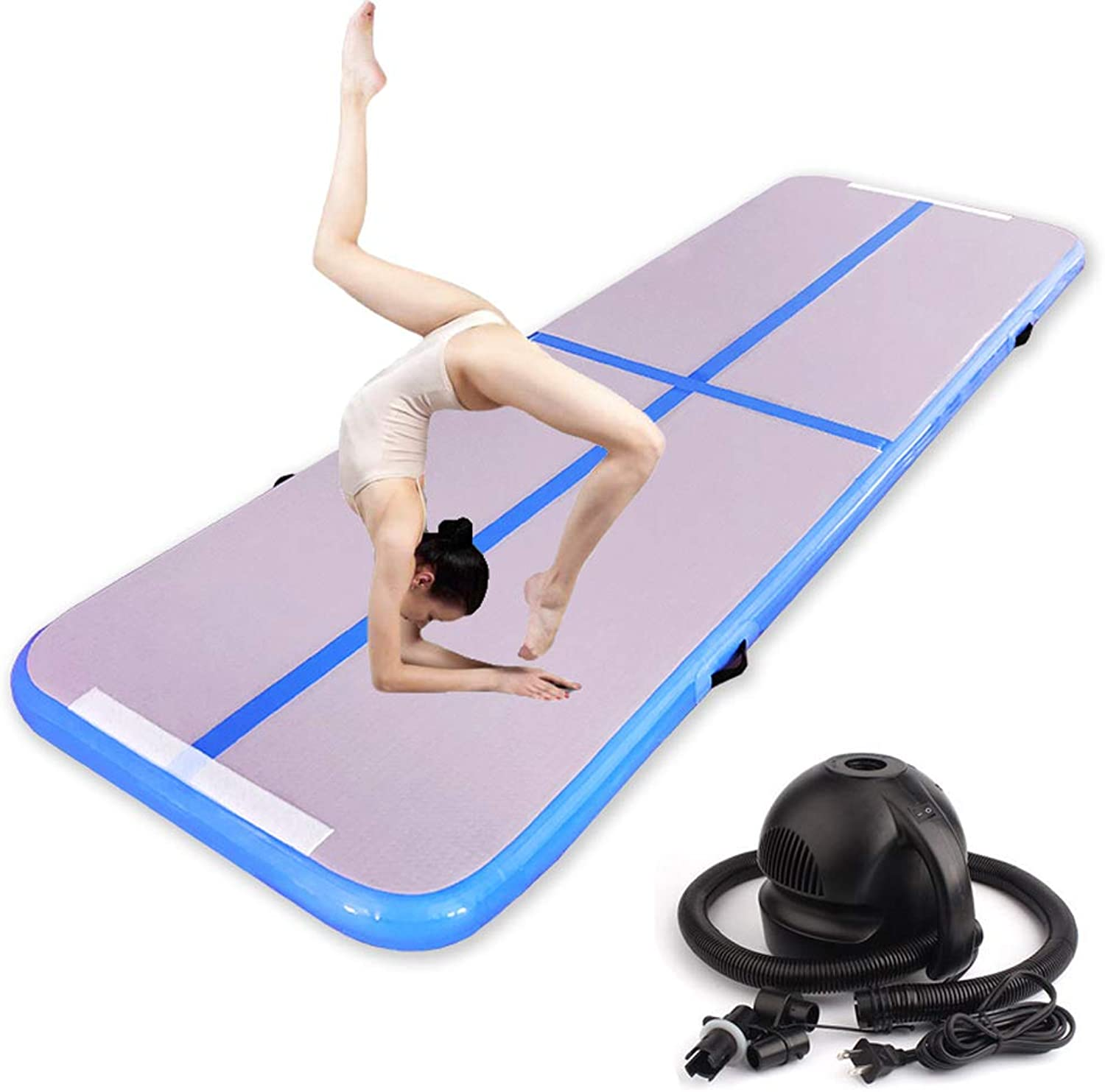 Air Track Tumbling Mat, Gymnastics Mat with Pump and Carry Bag, Inflatable Yoga Mat Air Mattress for Gym, Perfect for Acro Classes or Home Use 118x40x4inch