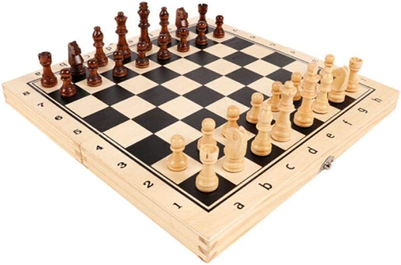 tienda de pescado para la venta Mzitty-615 Juego de ajedrez magnético Tablero de ajedrez Plegable Plegable Plegable Tablero de Madera Maciza Piezas de ajedrez (Talla   S)  conveniente