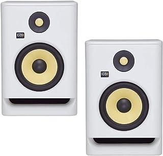 "KRK RP5 Rokit 5 G4 Professional Bi-Amp 5"" Powered Studio Monitors, White Noise - PAIR"