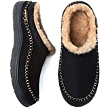 Zigzagger Men's Microsuede Moccasin Slippers Indoor Outdoor Fuzzy Fluffy House Slippers