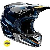 Fox Racing V3 Motif Men's Off-Road Motorcycle Helmet - Blue/Silver/Medium