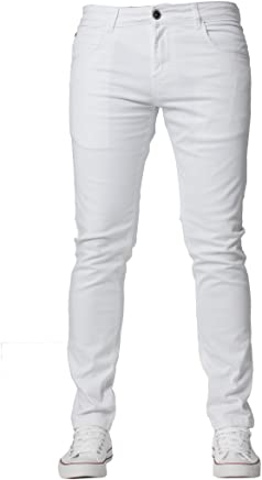 2f66d8e9c99d Kruze New Mens Slim Fit Chinos Stretch Skinny Pants Casual Smart All Waist  Jeans