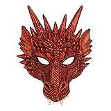Bristol Novelty BM552 Drachen Maske, Rot, Unisex– Erwachsene, Einheitsgröße