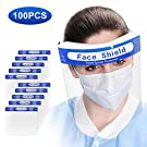 [3-7 DAYS DELIVERY] 100Pcs Value Pack Safety Face Shield with Protective Clear Film To Protect Eyes and Face Full Face Shield With Elastic Band and Comfort Sponge