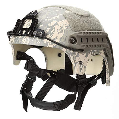WLXW IBH Taktischer Schnellhelm, Mit NVG-Halterung und Seitengitterkopf, Explosionsgeschützter Luftgewehr-Paintball-Jagdschutzausrüstung,ACU