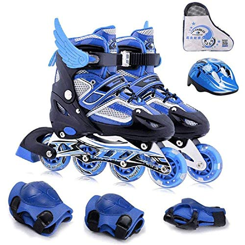 Adjustable Inline Skates Inline Skates Kids, Roller Skates for Kids Light Up Wheels Thicken Bracket Triple Protection Skate for Kids Boys Girls Beginners for Kids Best Gifts,M