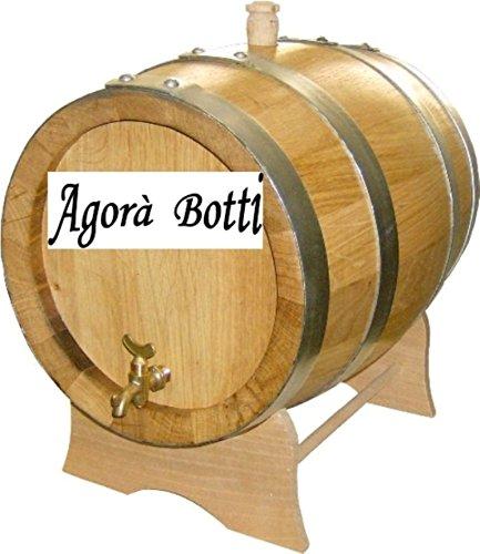 Agorà Botti Barril de roble de 20 litros con láminas de 3 cm de grosor.