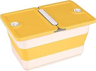 Pliant/Pliable Panier De Rangement avec Couvercles,Caisse De Rangement avec Poignées,Cube Organisateur pour Chambre à Couc...