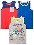 Amazon Brand - Spotted Zebra Kids Boys Sleeveless Tank Tops, 3-Pack Go Banana, X-Small