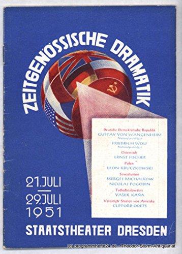 Programmheft Woche der Zeitgenössischen Dramatik 21. Juli - 29. Juli 1951