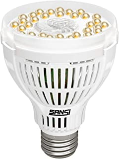 SANSI 15W LED Grow Light Bulb, Daylight White Full Spectrum Grow Lights for Indoor Plants, LED Plant Light Bulbs for Indoor Garden Houseplants, Commercial Hydroponic Horticulture, E26 A21 120V