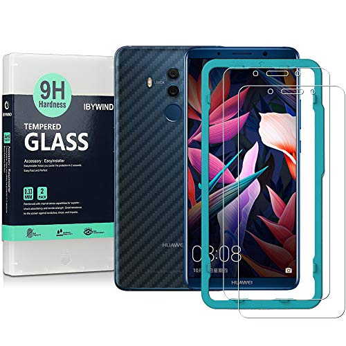 Flos [2PCS Pack] Huawei Mate 10 Pro Screen Protector,**Bubble Free Installation Applicator Tempered Glass Screen Protector [Anti-Fingerprint] For Huawei Mate 10 Pro-Transparent