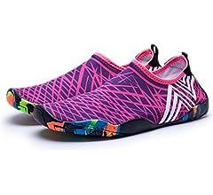 10US Women//8.5US Men=10.5 Foot, Yellow Map Barefoot Shoes Quick Dry Anti-Slip Water Shoes for Men Women Little Kid