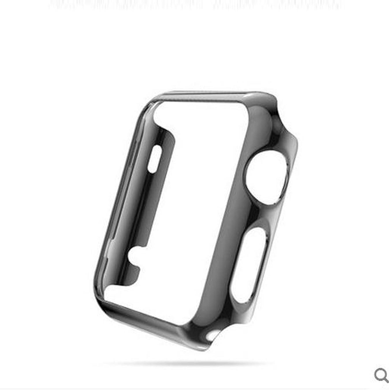 秘密のスーツケースエンドウApple Watch ケース Sakula 高品質PC メーキ加工 耐衝撃性 脱着簡単 超薄 アップルウォッチ カバー (38mm ブラック)
