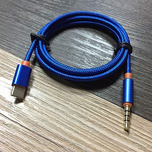KoelrMsd USB Tipo C a 3,5 mm Adaptador de Conector Auxiliar de Audio USB C Macho a 3,5 mm Extensión Macho Auriculares Cable Adaptador de Cable estéreo de Audio
