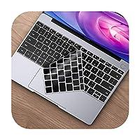 for Huawei MateBook 13 14 X Pro16.1用キーボードスキンカバーHonorMagicBook 14 15 D14D15用シリコンフィルムキーボードプロテクター -Black-MateBook X Pro 2019